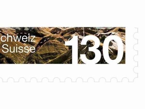 Briefmarken Schweiz gummiert Frankatur 1.30 CHF