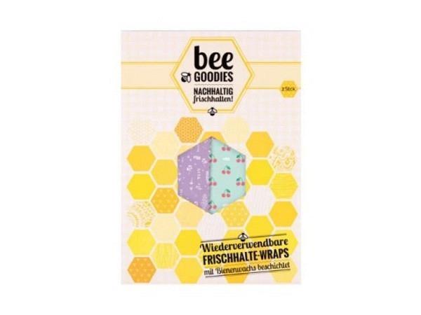Frischhaltetuch beegoodies Bienenwachstücher 2er Set 23x32cm und 23x23cm