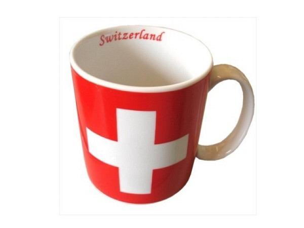 Tasse Swiss Cross Mug mit grossem Schweizerkreuz, Porzellan
