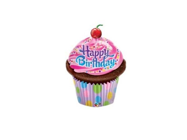 Ballone Folie ungefüllt Cupcake Happy Birthday