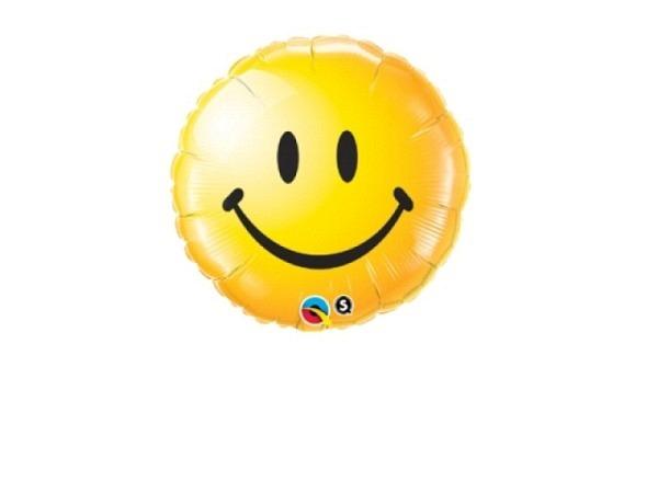 Ballone Folie ungefüllt Scheibenform Smiley