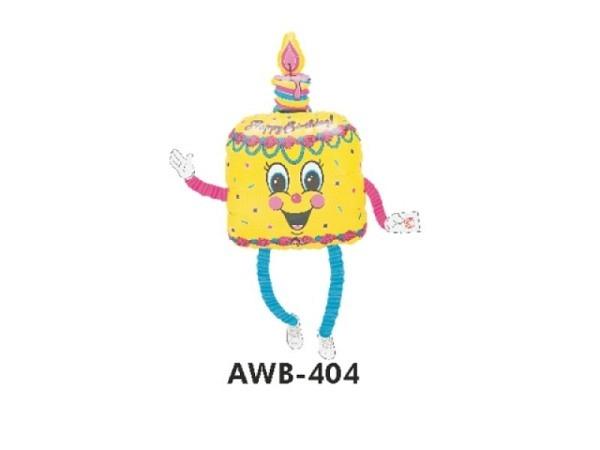 Ballone Folie ungefüllt Air-Walkers Geburtstagskuchen