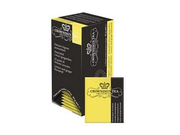 Tee Crownings Tea Zitrone/Ingwer 25 Beutel