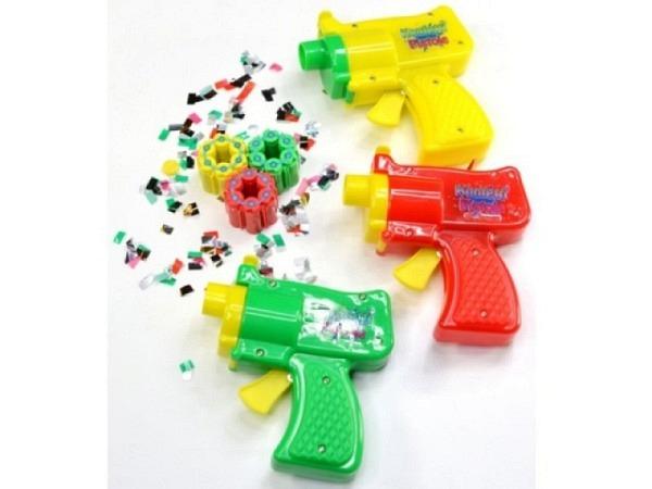 Konfetti Pistole aus Kunststoff farbig