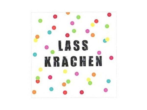 Servietten Braun Atelier Lass Krachen 33x33cm, 3lagig, 20Stk.