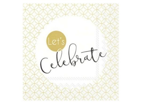 Servietten Ihr Cocktail Lets Celebrate gold