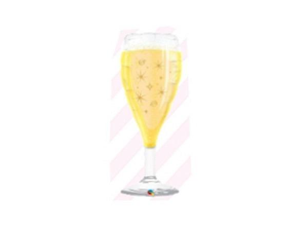 Ballone Folie ungefüllt Champagnerglas ca 91cm gross