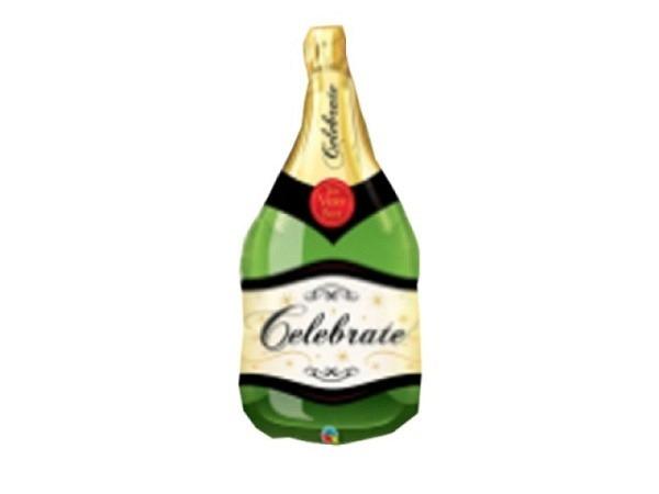 Ballone Folie ungefüllt Champagnerflasche, ca 91cm gross