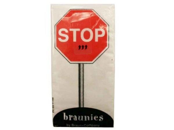 Taschentuch Braun Stop mit diversen Verkehrstafeln, 10Stk.