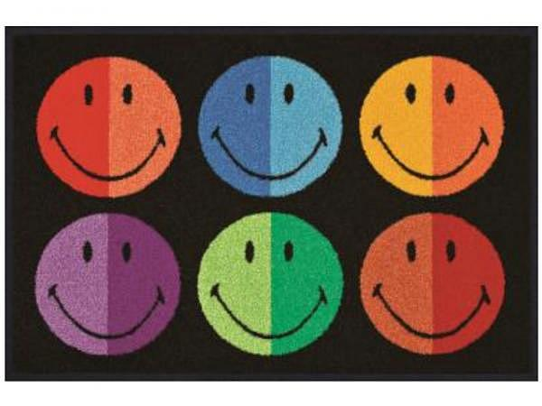 Fussmatte KleenTex Wash+Dry Smiley Colours, 50x75cm