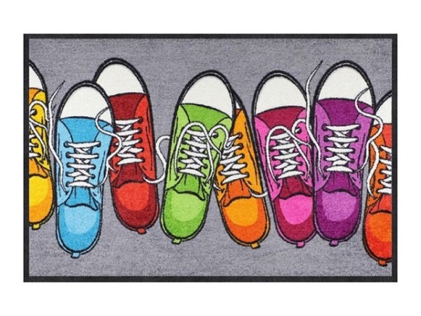 Fussmatte KleenTex Wash+Dry Smiley Warhol, 50x75cm