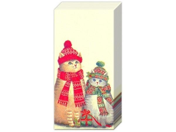 Taschentuch Ihr Christmas Cats 10Stk.