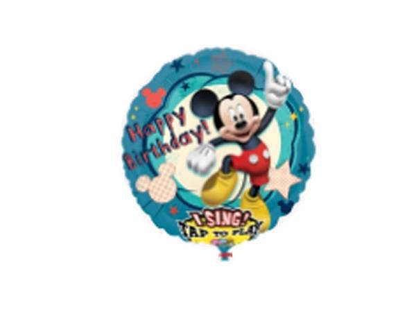 Ballone Folie ungefüllt Musik Happy Birthday Mikey Mouse