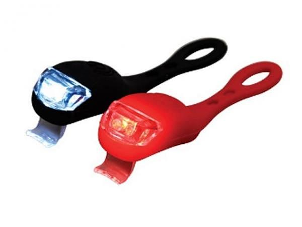 Licht Rex Fahrradleuchte 2Stk rot und schwarz
