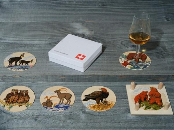 Untersetzer Atelier Fischer Alpentiere