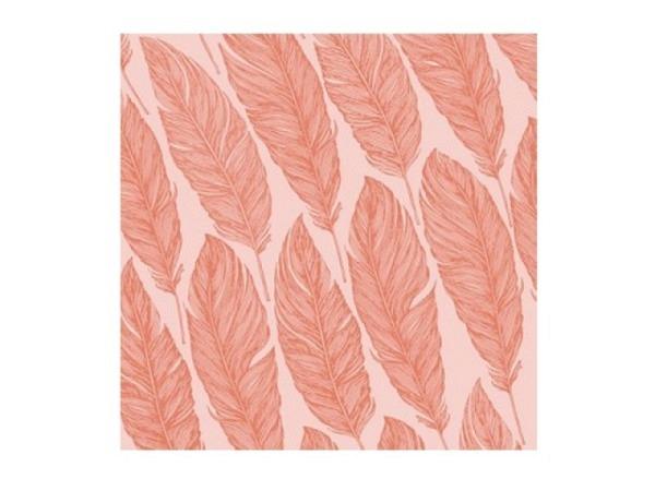Servietten Atelier Feather orange-puder 33x33cm