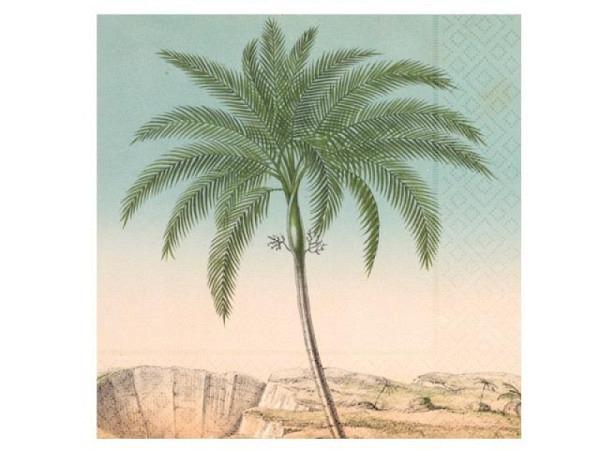 Servietten Sköna Ting palm 25Stk. 33x33cm, 3lagig, bedruckt mit Palmen