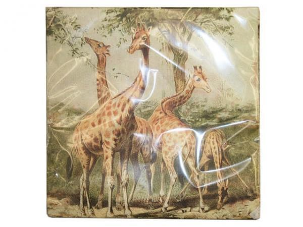 Servietten Sköna Ting giraffes 25Stk. 33x33cm, 3lagig, bedruckt mit ..