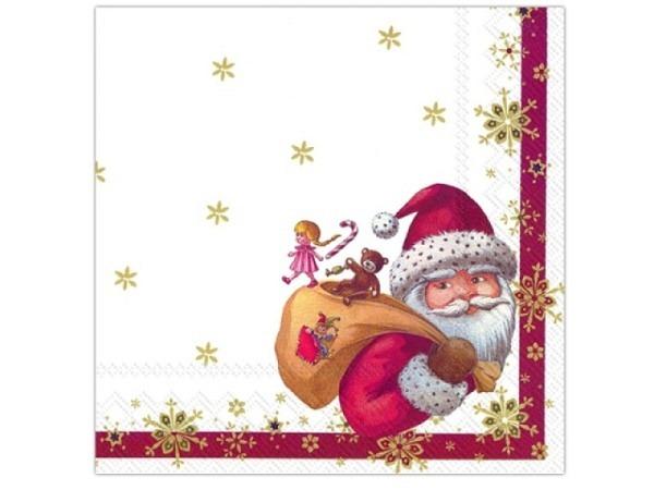 Servietten Ihr Cocktail Toy's Santa 20Stk, 25x25cm, 3-lagig