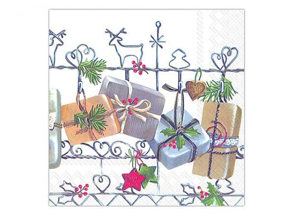 Servietten Ihr Cocktail Christmas Trellis 20Stk. 25x25cm