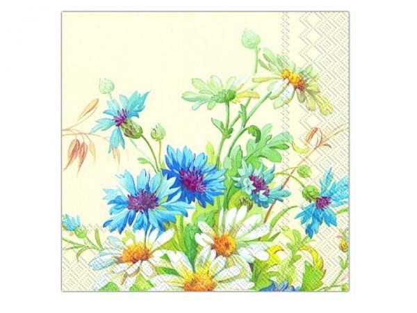 Servietten Ihr Cocktail Cornflowers and Daisy 20Stk. 25x25cm