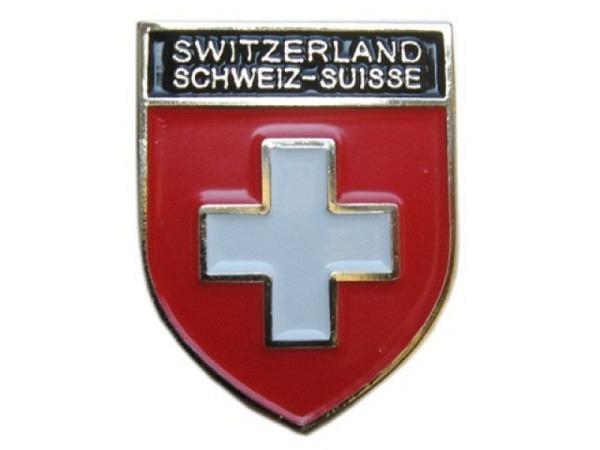 Pin Schweiz Banner Anstecker aus Metall