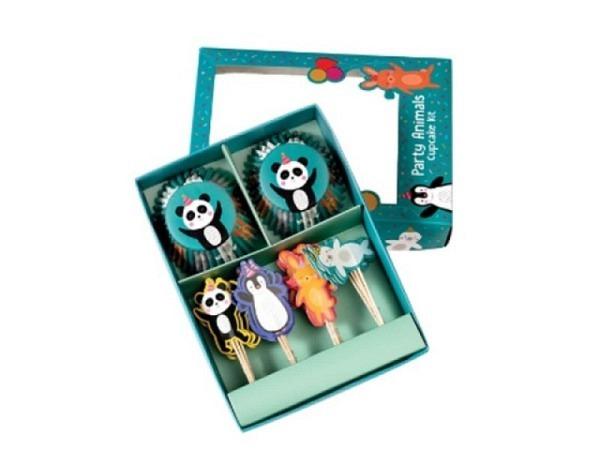 Backset Rex Cupcake Kit Party Animals