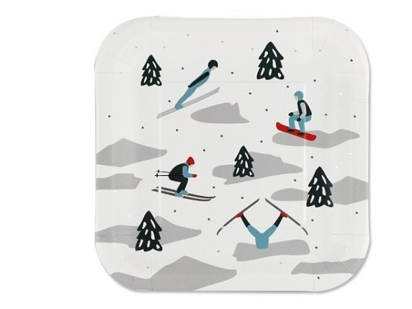 Teller Ava&Yves Ski Durchmesser 22,9cm eckig
