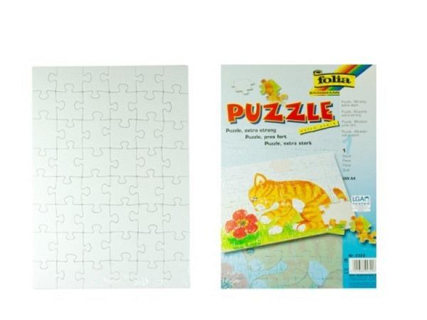 Puzzle Folia 21x29,7cm 48 Teile blanko unbedruckt weiss