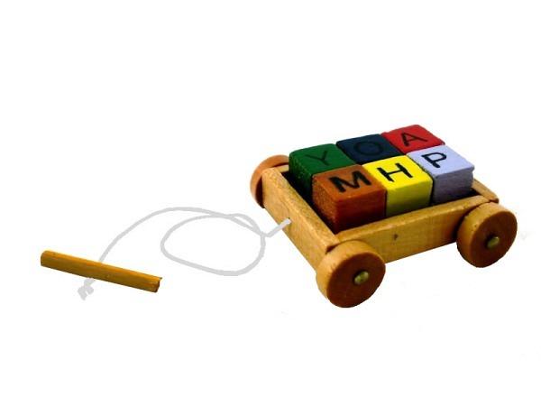 Figur Be Happy Pop-Up Figur mit Licht springend