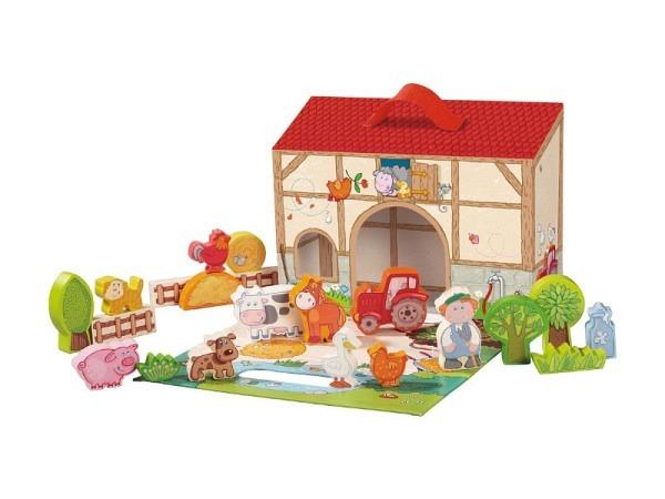 Spiel Rex Dominos, schwarze Dominosteine in kleiner Holzbox