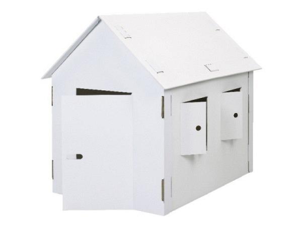 Spielhaus Joypac XXL aus Karton weiss unbedruckt
