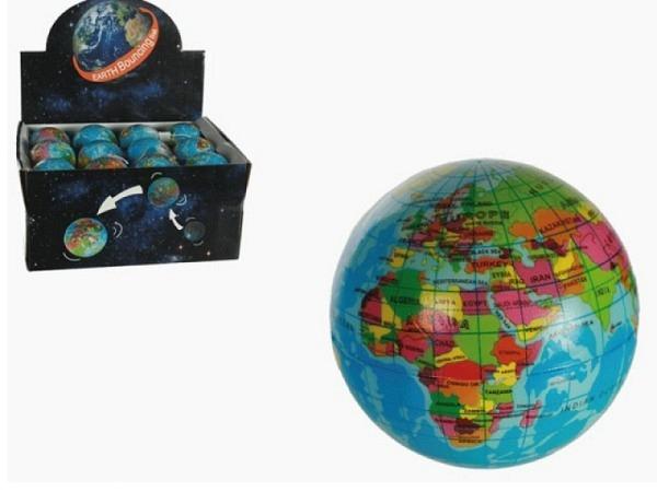 Spielzeug Springball Soft Weltkugel rund