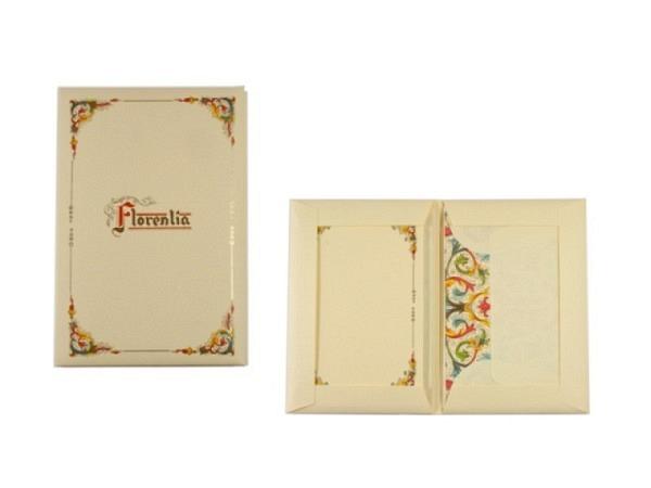 Briefpapier Kartos Florentina 9x14cm 10 Karten chamois