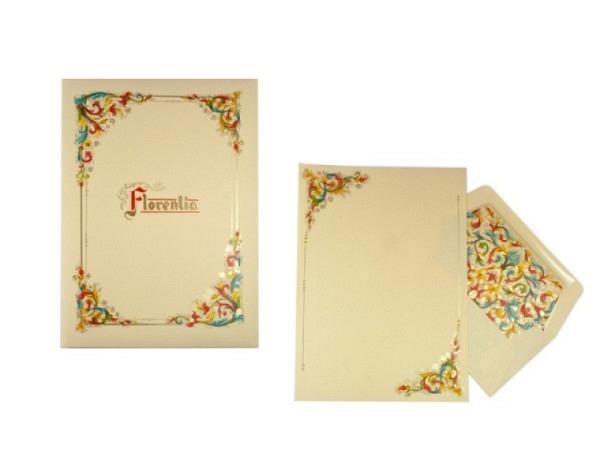 Briefpapier Kartos Florentina 10 Bogen 16,2x22,7cm