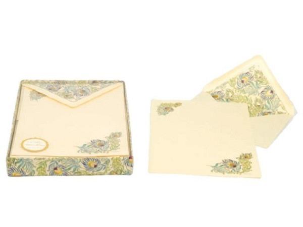 Briefpapier Kartos Writingbox Peacock 20er Set 16,8x22,8cm