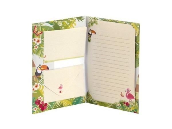 Briefpapier Rössler Flamingo im Dschungel
