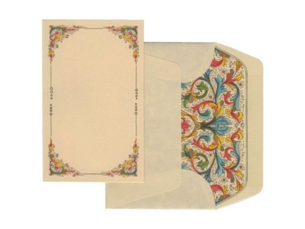 Briefpapier Kartos Florentia 11,2x16,7cm 10 Karten