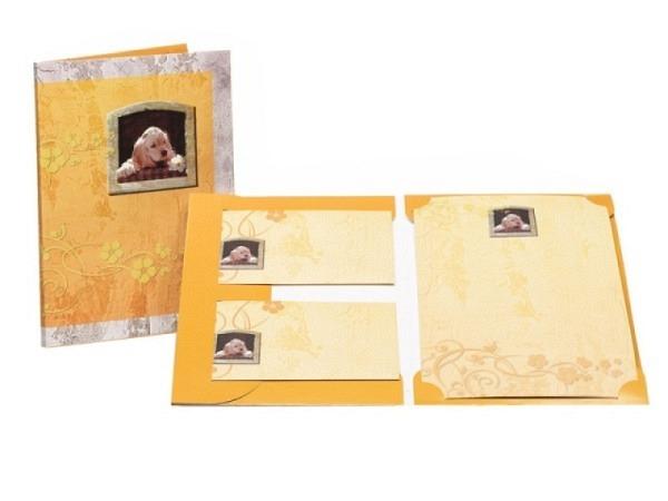 Briefpapier Rössler Krümel 10 Stk Papier 17x24cm hellgelber