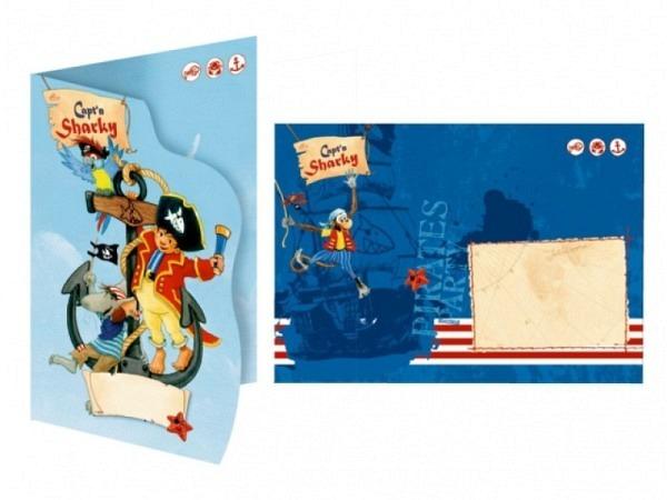 Einladungskarten Coppenrath Sharky Cowboy 8er Set