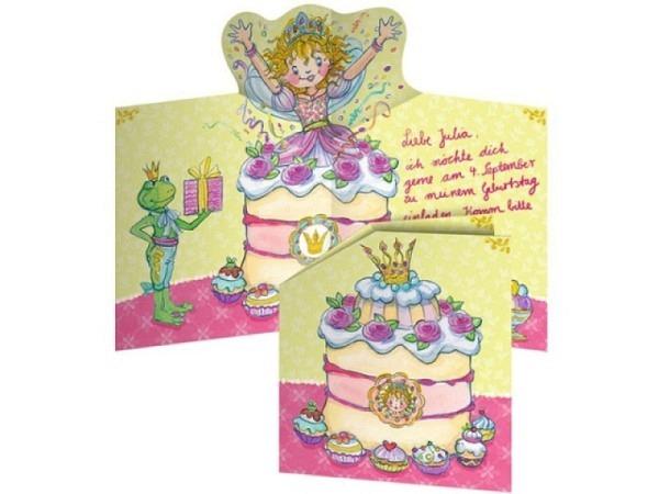 Einladungskarten Prinzessin Lillifee 8Stk. Doppelkarten