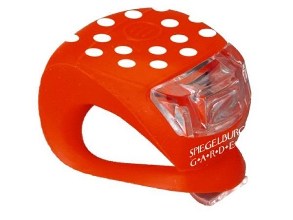 Fahrradlampe Fröhliche Tupfen rot mit weissen Punkten