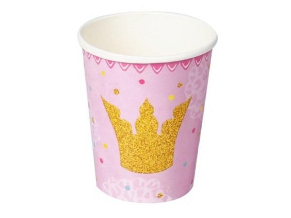 Becher Prinzessin Lillifee Partybecher Krone 8Stk.