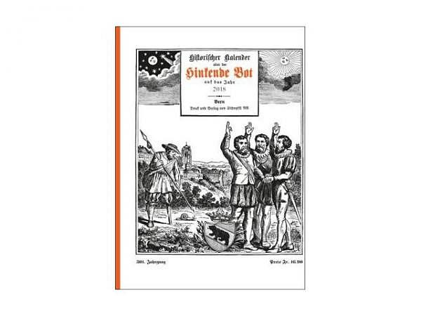 Buch mit Kalender der hinkende Bot