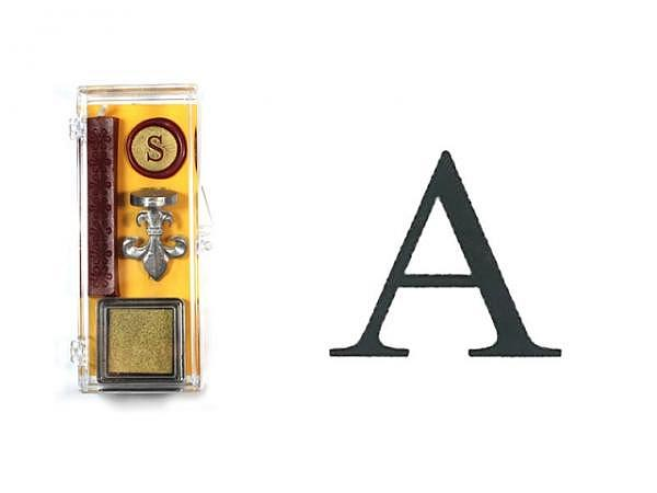 Petschaft Initialen Clear Classy Grossbuchstaben A