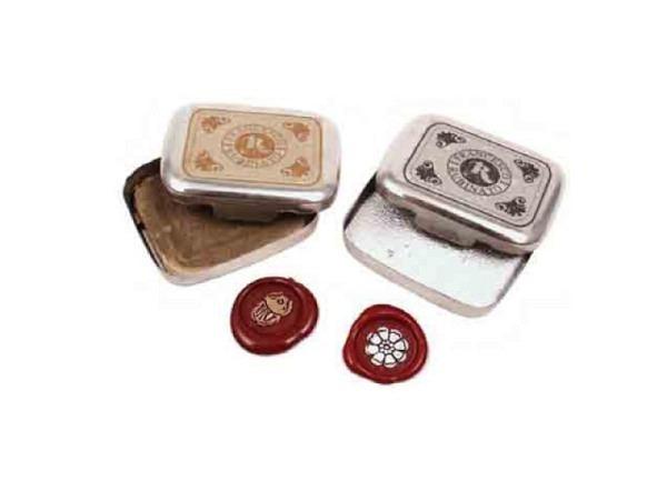 Siegelkissen Rubinato silber für zweifarbige Siegelabdrücke