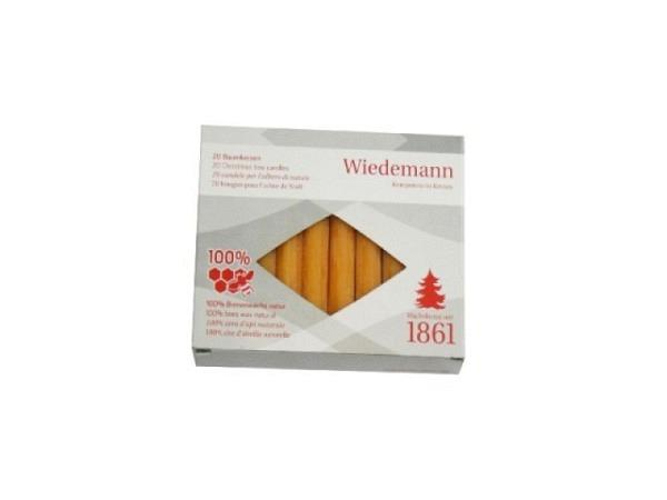 Kerze Wiedemann Christbaumkerzen reiner Bienenwachs 98mm