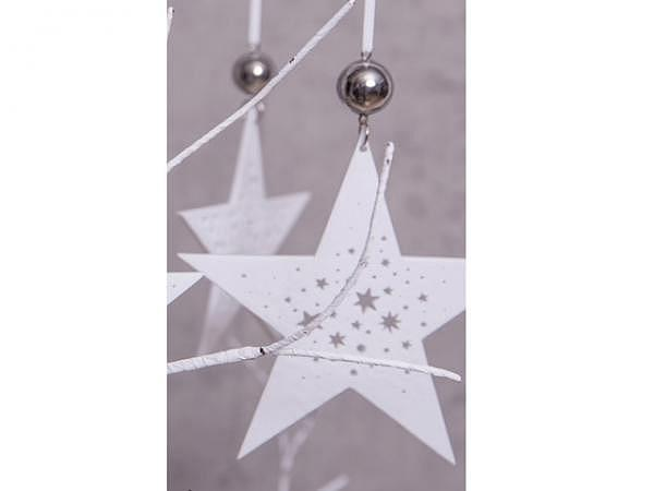 Deko Aufhänger Zarte Sterne weiss 10,5cm