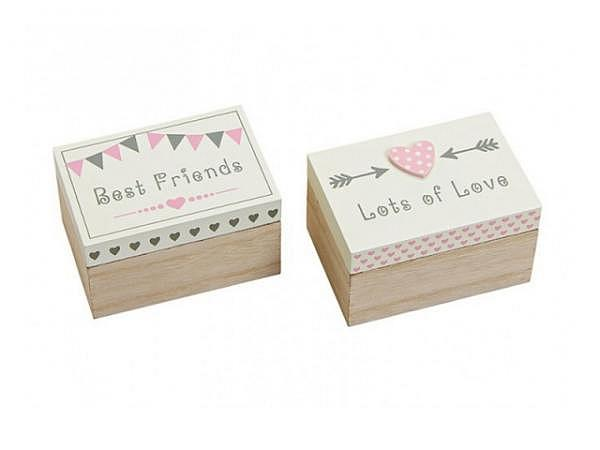 Schatulle Herz lets of love/ best Friends, BxHxT 10x6x7cm