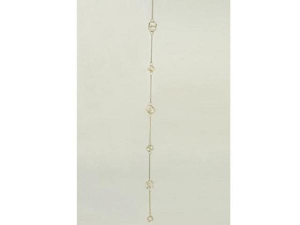 Deko Aufhänger gold mit Diamanten, 3x100cm
